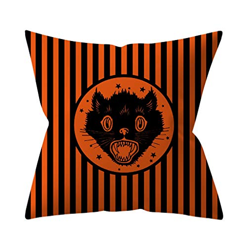 Kostüm Witchy Kind - Lazzboy Dekokissenbezug Halloween Pumpkin Dekorative Sofakissenbezug Kissenbezüge Sofa Dekokissenhülle Haus Zimmer Auto Deko(G)