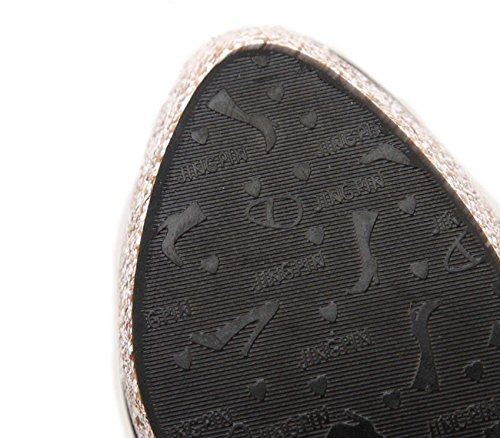 NobS Chaussures Femmes Imperméable Chaussures Talons Chaussures Discothèques Basse Chaussures Sequins Chaussures Black