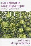 Image de Calendrier mathematique 2015 : Un defi quotidien, les motifs de la nature