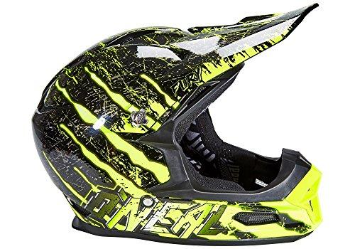 O'Neal Fury RL Helm Mercury Schwarz Neon Gelb Hi-Viz Fidlock DH FR MTB Downhill Fahrrad, 0499-40, Größe XS (53 - 54 cm)
