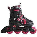 Best Sporting Inline Skates, Größe verstellbar mit ABEC 7 Carbon-Kugellager, Inliner für Kinder, Jugendliche und Erwachsene, Größe:38-41, Farbe: pink/schwarz