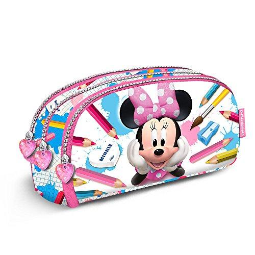 Karactermania 38237 Minnie Mouse School Estuches, 22 cm, Rosa