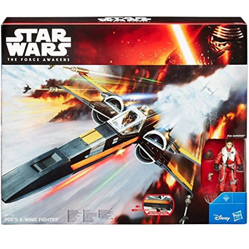 Star Wars Poe Dameron X-Wing Fighter Force Awakens Class III Vehicle With Action Figure