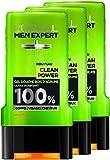 L'Oréal Men Expert Clean Power Ultra-purifiant Gel Douche pour Homme 300 ml - Lot de...