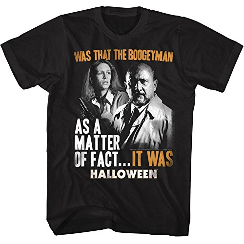 lloween unheimlich horror slasher film war es T-shirt für Herren Groß Schwarz (Halloween Film T Shirts)