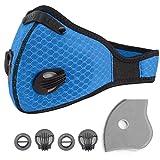 Atemschutzmaske Staubmaske Atemmaske Staubschutzmaske Schutzmaske Atemmaske Gasmaske PM2.5 für Radsport,Motorradfahren,Draussen. (Blau)