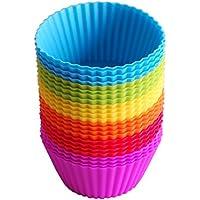 24 Pirottini/stampi in silicone per cupcake e muffin, riutilizzabili
