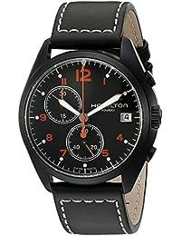 Hamilton Herren-Armbanduhr XL Analog Automatik Leder H76582733