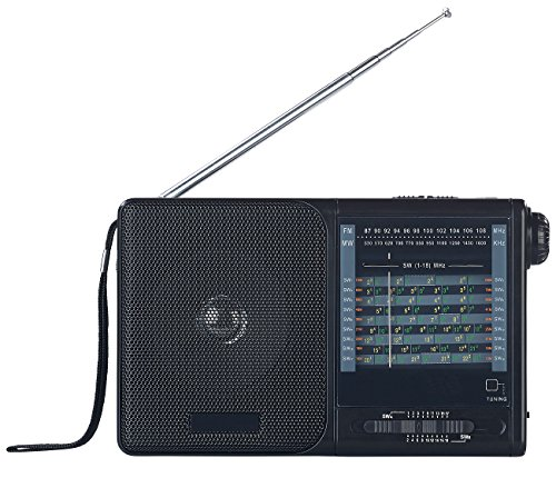 auvisio Radio Analog: Analoger 20-Band-Weltempfänger mit FM, MW und 18x KW (Analoge Weltempfänger Reise Radios)