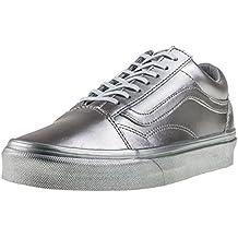 Vans UA Old Skool Silver Metallic Textile Trainers 31fd89dc358