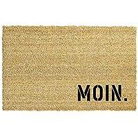 MOIN. Kokos-Fußmatte | Fußabtreter | Türvorleger | Teppich | 40 x 60 cm | mit Spruch | Geschenk | Ostern | Geburtstag | Einzug | Valentinstag