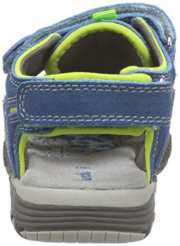 Lurchi Bobby, Sandales fermées garçon Multicolore - Mehrfarbig (electric blue 22)