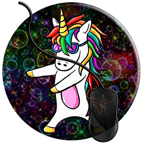 Mauspad Zahnseide Mit Blasen, Runde Gaming Mauspad Matte Reibungslos Weich Rutschfester Gummi Basis für PC Laptop 1U2721 -