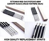 Coppia di Premium pistone pistoni molla a gas 600N nForce 40cm resistente per poggiapiedi per letto