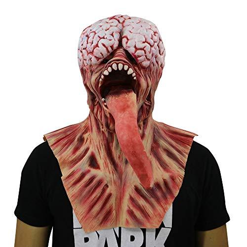 wyxhkj Schreckliche Halloween-Zombie vollkopf Gesicht Maske Horror-Cosplay-Kostüm (A)