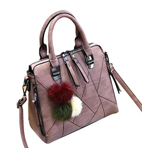 Baymate Frauen PU Leder Tasche Umhängetasche Gedruckt Messenger Bag Elegant Handtasche Als Bild