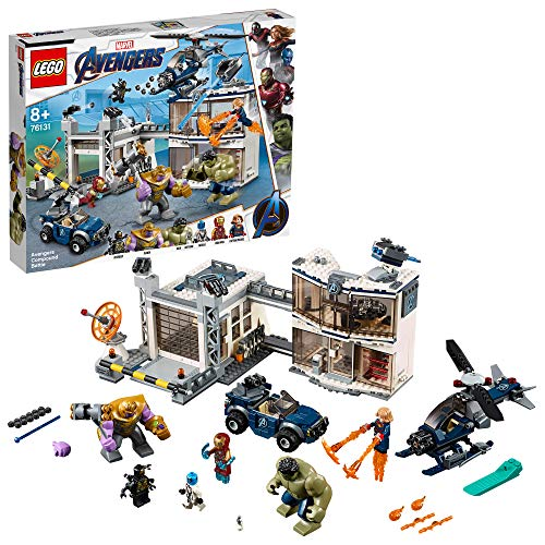 LEGO Super Heroes - Battle in the Avengers Complex, Avengers Construction Toy, Includes Helicopter and SUV (76131)
