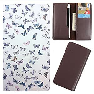 DooDa - For Micromax Canvas Juice 3 PU Leather Designer Fashionable Fancy Case Cover Pouch With Card & Cash Slots & Smooth Inner Velvet