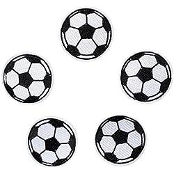 5PCS palla pallone da calcio toppa termoadesiva per bambini jeans abbigliamento bambini Sew on Jacket zaino sciarpa applique DIY Craft