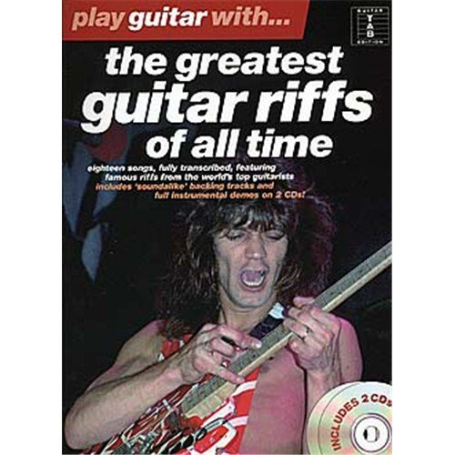 Play Guitar With... The Greatest Guitar Riffs Of All Time. Partitions, CD pour Tablature Guitare