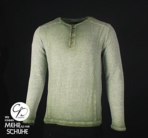 CP Abenteuer Mittelalter Hemd Shirt Zwergenhemd Heldenhemd grün Used Look (Medium)