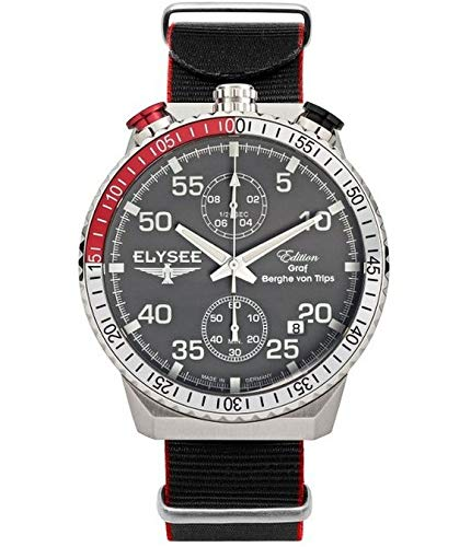 Elysee Reloj los Mujeres GRAF Berghe Von Trips Rally Timer I Cronógrafo 80516GN