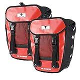 Red Loon 2x Pro Packtasche Fahrradtasche Gepäckträgertasche LKWPlane wasserdicht, Farbe:rot, Herstellernummer:VDP64135_2
