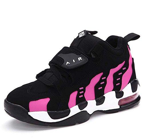Unisex Coppia Casual Scarpe sportive Scarpe basktball Comforty Punta tonda Lacci delle scarpe Velcro Color Match Snekers Scarpe da trekking Scarpe da corsa Eu Taglia 35-44 ( Color : Pink plush , Size : 42 )