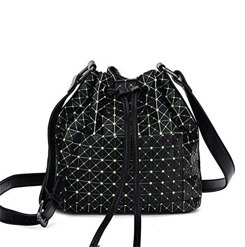 Vintage Women-Bag Marke Tasche geometrische Schulter Bucket Bag Bolsa (Schulter Vintage Tasche Gesteppte)