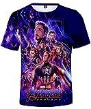 HUASON Bambini E Ragazzi T-Shirt Avengers Endgame Super Hero Quantum Realm Short Sleeve(S)