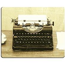 luxlady Mousepads Close Up de una antigua máquina de escribir con papel, diseño vintage de