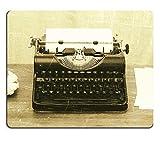 Luxlady Mousepad Close Up Di Una Vecchia macchina da scrivere con carta stile vintage immagine 28129919personalizzato Art desktop laptop gaming mouse pad