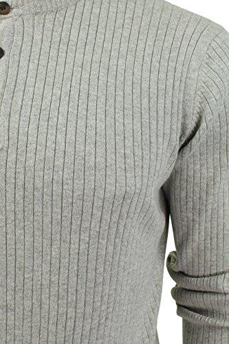 Pull col grand-père à manches longues 'Brookmere' par Tokyo Laundry pour homme light grey marl