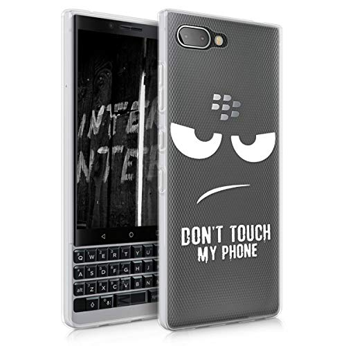 kwmobile Funda para Blackberry KEYtwo (Key2) - Carcasa de [TPU] para móvil y diseño Don't Touch my Phone en...