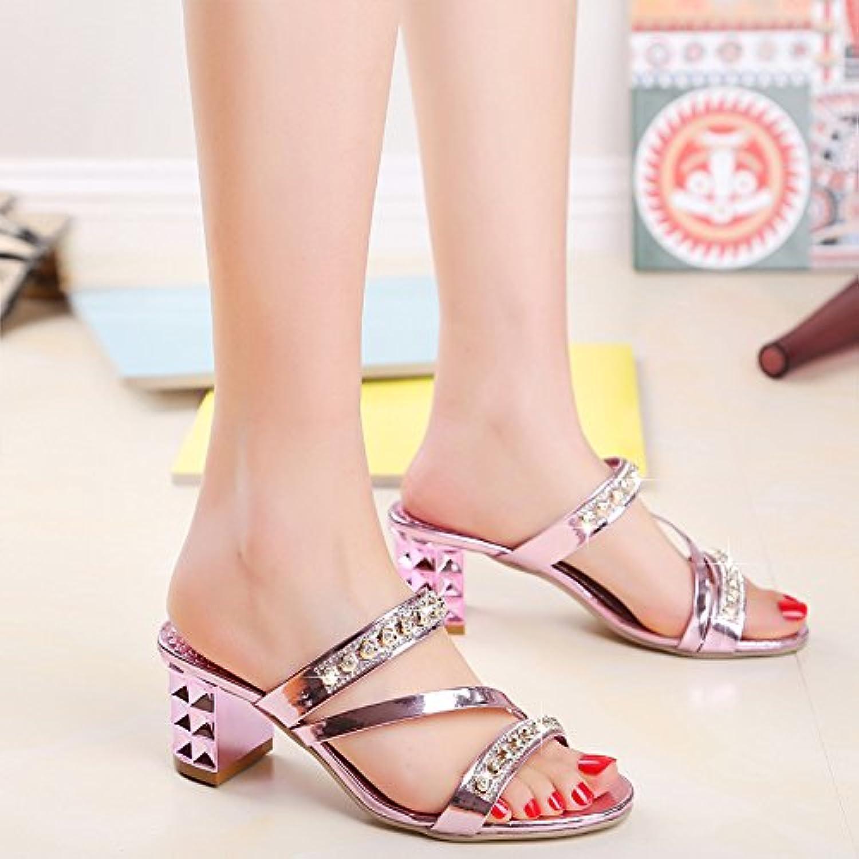yalanshop Presidente Cool Zapatillas, Zapatos de Mujer con la Punta de la Broca de Agua Fresca y Pescado, Violeta 39
