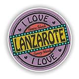 2 x Pegatinas de Vinilo Lanzarote para Equipaje de Viaje # 10560, 10cm/100mm Wide
