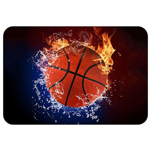 ZBLX football-basketball-baseball doormat-stylish Fußmatte Teppich Innen Badezimmer Matten Gummi rutschfeste -