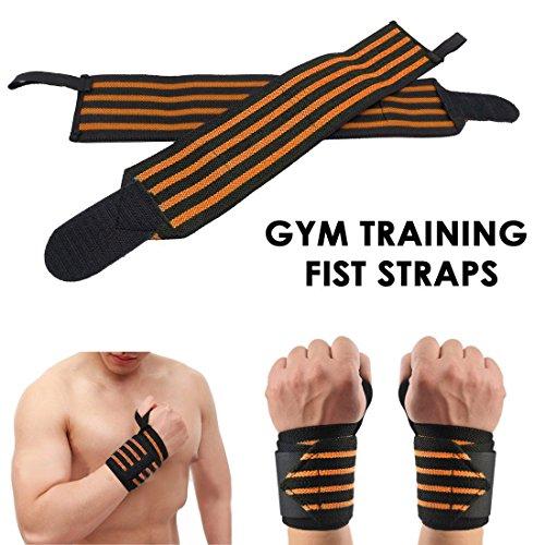 JJPRIME Muñequeras levantamiento peso gimnasio, entrenamiento