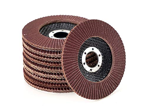 20 Stück Fächerscheiben - Ø 115 mm x 22,23 mm - MIX-Paket - Gemischte Körnung je 5 x Korn 40/60 / 80/120 - braun | Standard Fächerscheiben | Schleifmopteller | Fächerschleifscheibe
