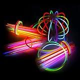 Schramm® 100 Knicklichter mehrfarbig sortiert Knicklicht inklusive Verbinder Glow Stick Leuchtstäbe Leucht Stab