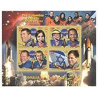 THE COLUMBIA TRAGEDY NASA SPACE SHUTTLE SOMALIA 2003 MNH STAMP SHEETLET