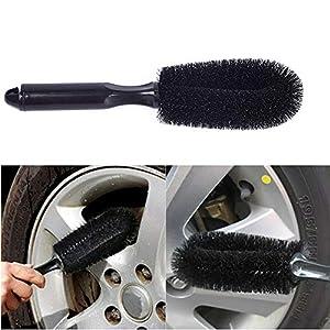 Koowaa 1 Stücke PP Fahrzeug Rad Pinsel Waschen Autoreifen Felgenreinigung Griff Pinsel Werkzeug für Auto LKW Motorrad Fahrrad