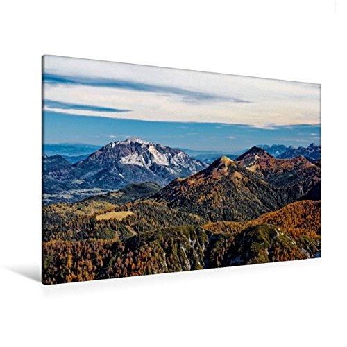 Premium Textil-Leinwand 120 cm x 80 cm quer, Blick vom Gartnerkofel   Wandbild, Bild auf Keilrahmen, Fertigbild auf echter Leinwand, Leinwanddruck (CALVENDO Natur)