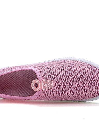 ZQ gyht Scarpe Donna-Sneakers alla moda / Mocassini-Tempo libero / Casual / Sportivo-Comoda / Moccasino-Piatto-Tulle-Nero / Blu / Rosa / Grigio , blue-us5.5 / eu36 / uk3.5 / cn35 , blue-us5.5 / eu36 / pink-us8.5 / eu39 / uk6.5 / cn40