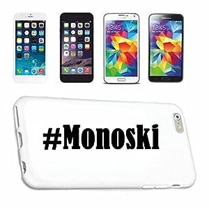 Handyhülle Huawei P9 Hashtag ... #Monoski ... im Social Network Design...