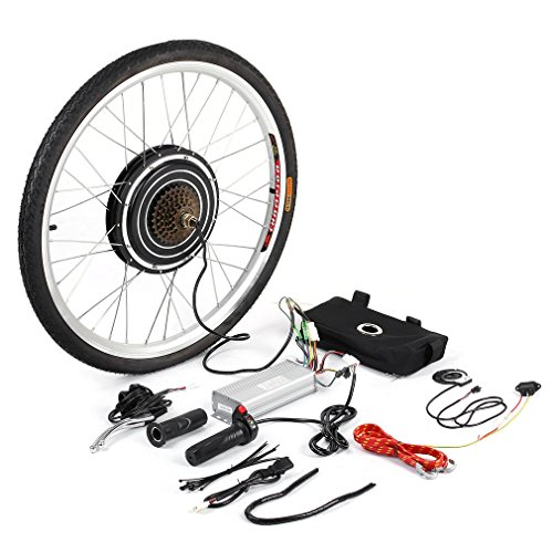 Kitechildhrrd 48 V 1000 W E-Bike Motor Hub Bicicletta elettrica Kit di conversione Electric Bicycle Conversion Kit 26' Front/Rear Motor, E-Bike Hinterrad-Motornabe, 63 * 63 * 4cm