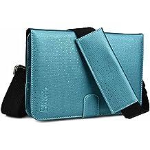 Funda tipo Portafolio de viaje Cooper Cases (TM) Magic Carry II PRO in Azul para Tablet de Huawei MediaPad / M1 8.0 / M2 / S7-301w con Asas para Mano y Hombro