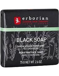 ERBORIAN Black Soap Savon Visage Purifiant au Charbon