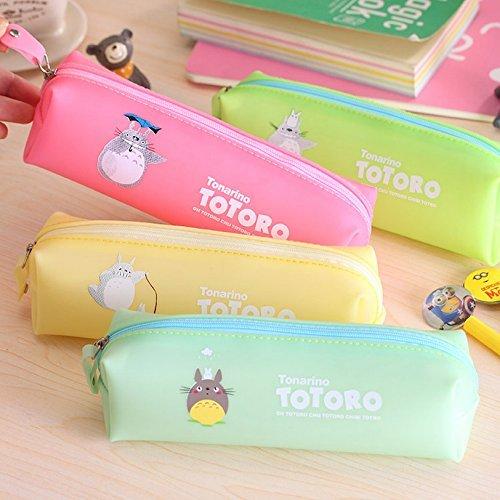 Generic Bluee: NEU Cute Kawaii Totoro Federmäppchen Schule Lovely Aufbewahrungstasche Organizer für Kosmetik Make-up Bag Geldbörse versandkostenfrei 3001 (Abas-geldbörse)