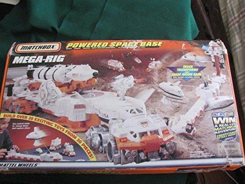 Matchbox MEGA-Rig Spielset (20 Spielzeuge in einem!) Der Truck verwandelt sich in eine große Mondbasis! Rig Truck